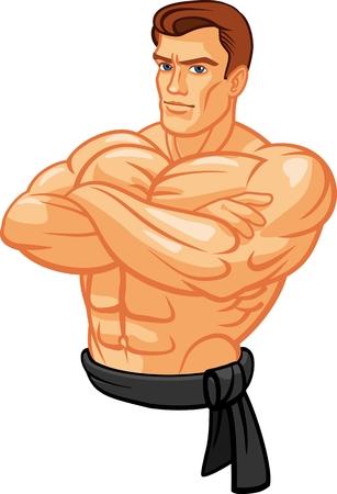 Ilustración de strong man isolated on white - Imagen libre de derechos