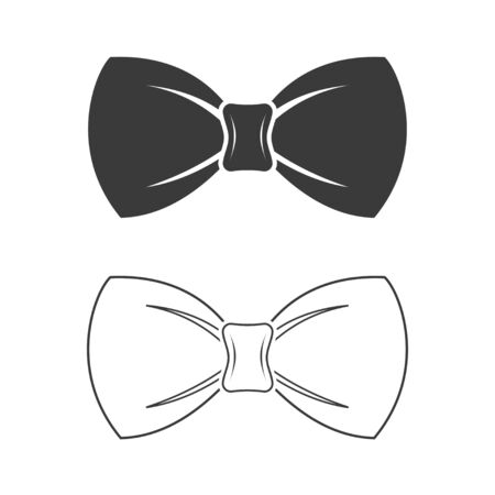 Bow tie icon template color editable. Bow tie symbol vector sign isolated on white background. Simple  vector illustration for graphic and web design.