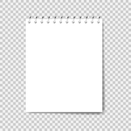 Illustration for Notebook mockup. Note with spiral. Notebook realistic style. Notepad empty paper. Vector illustration - Royalty Free Image