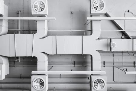 Photo pour Air conditioner ventilation installation system in Building - image libre de droit