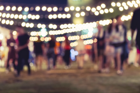 Photo for Festival Event Party with People Blurred Background - Royalty Free Image