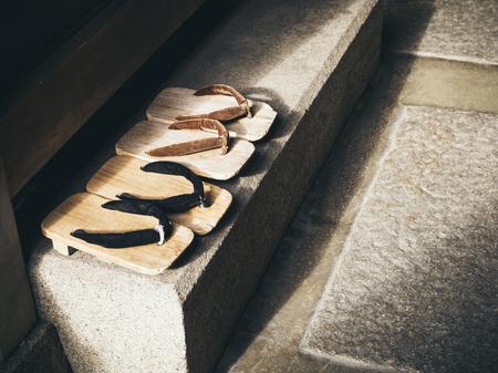 Photo pour Japan Traditional Footwear Zori in Japanese home - image libre de droit