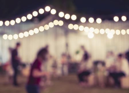 Foto de Festival Event Party with People Blurred Background - Imagen libre de derechos