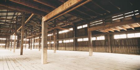 Barn Interior Wooden Construction perspective