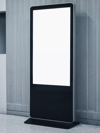 Foto de Blank Mock up Banner Stand Media Display Signage Indoor - Imagen libre de derechos