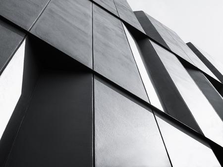 Photo pour Architecture details Modern Facade building Black and White - image libre de droit