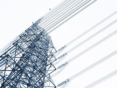 Photo pour High voltage post Power line High voltage tower Industry - image libre de droit