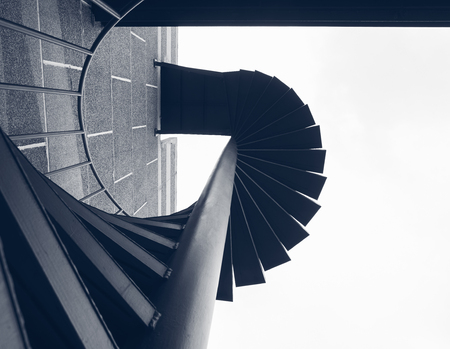 Photo pour Staircase step Building Exterior Fire spiral Architecture Abstract - image libre de droit