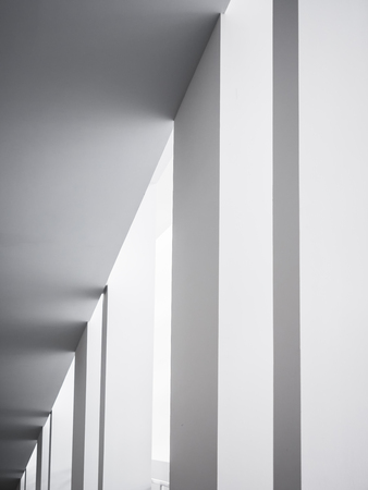 Foto de Architecture details White columns Modern building geometric Abstract background - Imagen libre de derechos