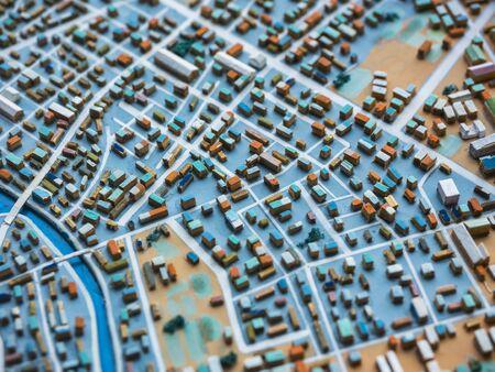 Photo pour City Model town Urban plan layout Building city scape - image libre de droit