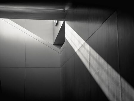 Photo pour Architecture details Modern building structure shade shadow lighting Abstract background - image libre de droit