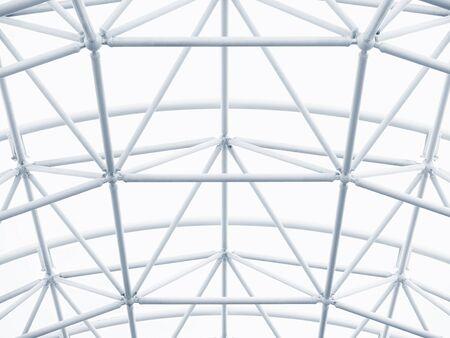 Photo pour Architecture detail Modern Metal Structure Pattern Construction White background - image libre de droit