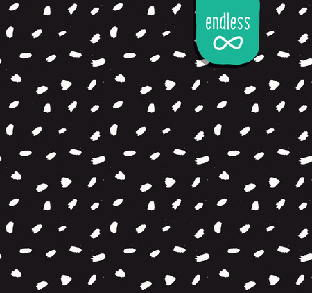 Handmade seamless texture - dark brush dots. Perfect as background for greeting cards, business cards, covers, and more.