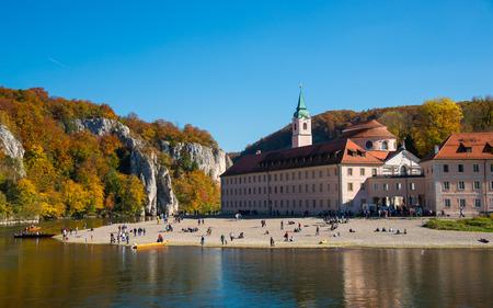 Danube Gorge and monastery Weltenburg