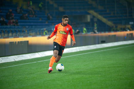 Photo for Kharkiv, Ukraine - March 4, 2020: Tete, midfielder of Shakhtar Donetsk in action during the match UPL Shakhtar - Dnipro-1 - Royalty Free Image