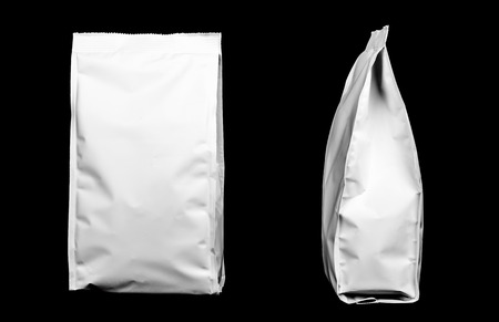 plastic packages isolated on black