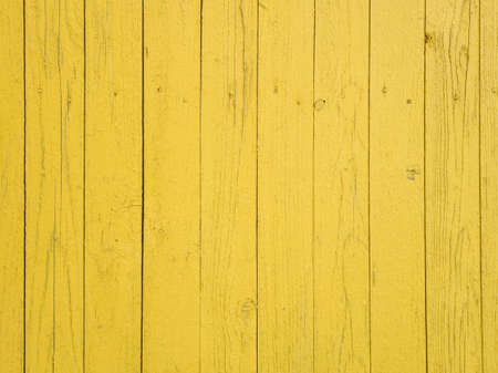 Photo pour Yellow painted wooden textured background. Abstract wood wall. Copy space, empty template for text - image libre de droit