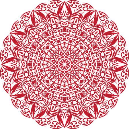 Illustration pour A mandala is a geometric configuration of symbols. - image libre de droit