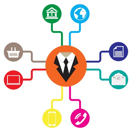 Foto für Business icons flat vector illustration Communication - Lizenzfreies Bild