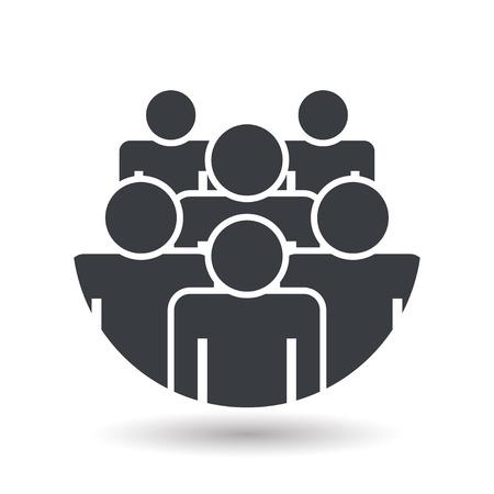 Illustration pour Crowd of people - icon silhouettes vector illustration flat design - image libre de droit