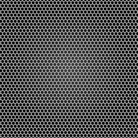 Grid gray metal, black background