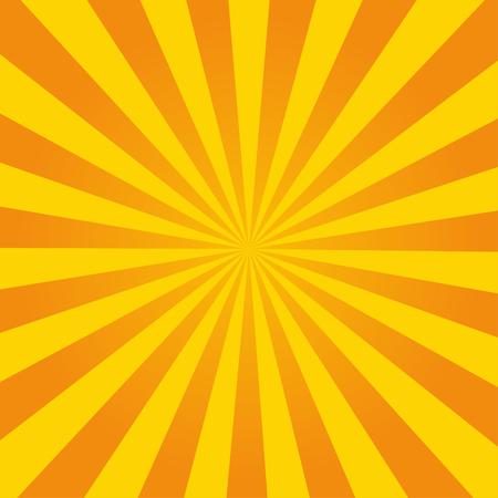 Retro ray orange background in  vintage style