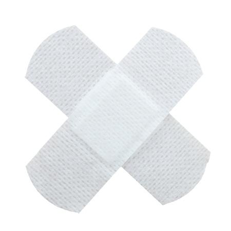 white plaster isolated on white background medical concept