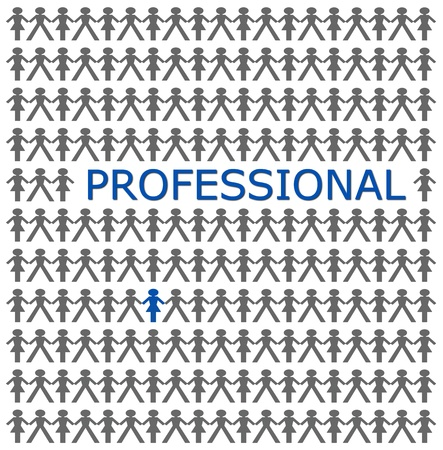 stand out from the crowd, be professional