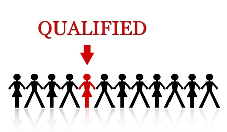 stand out from the crowd, be qualified