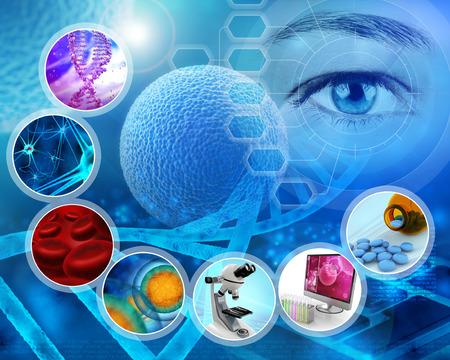 Foto de medical science and scientific research abstract backdrop - Imagen libre de derechos