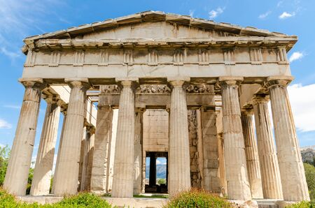 Photo for Temple of Hephaestus in Ancient Agora, Athens, Greece. - Royalty Free Image