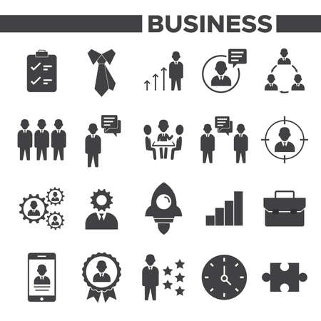 Illustration pour Stock Vector Set of Work Icons People Business Skill Manager Performance for your project and others - image libre de droit