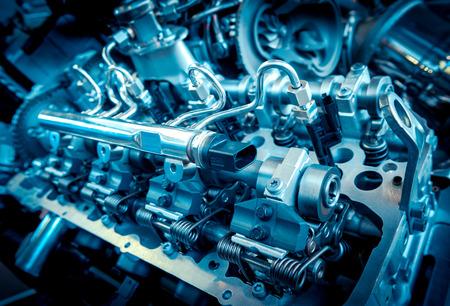Photo pour Close up shot of car engine. Industry concept - image libre de droit