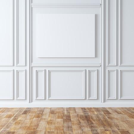 Photo pour Empty Classic Room With Laminate Flooring - image libre de droit