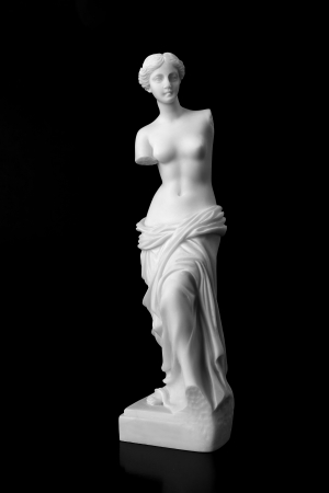 The Venus de Milo is a marble statue of the Hellenistic era, dates from around 100 BC