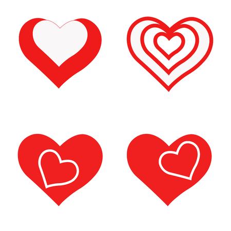 Photo pour hearts set for design. hearts set for the holiday. heart - image libre de droit