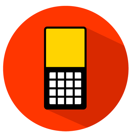 Flat icon of old phone vector illustration.
