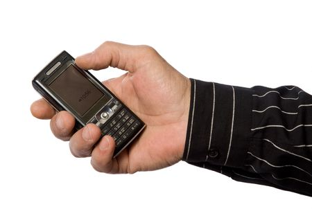 Mobile phone and hand