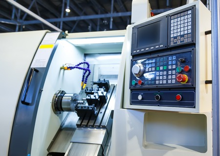 Photo for Computer control panel lathe with numerical control - Royalty Free Image