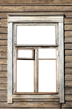 Photo pour window in an old wooden house. isolated on white background. High quality photo - image libre de droit