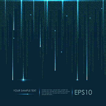 Illustration for Abstract technology background. Vector binary code - Royalty Free Image