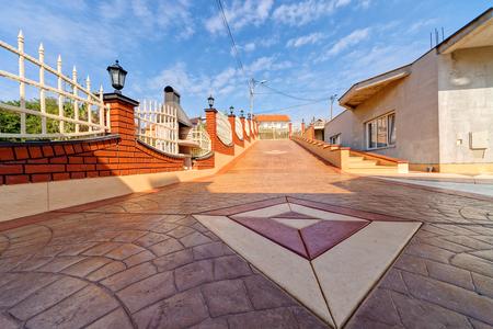 Foto de Stamped concrete - Imagen libre de derechos
