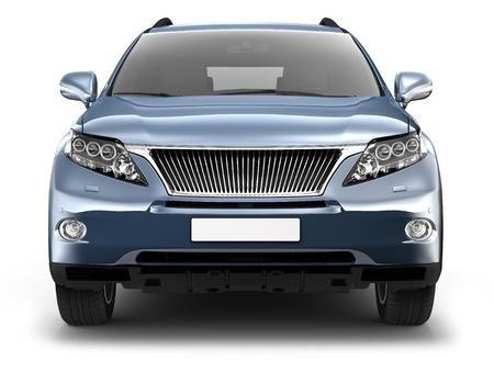 Blue SUV car