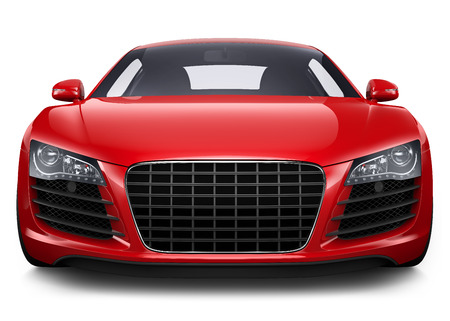 Sports Car in Red