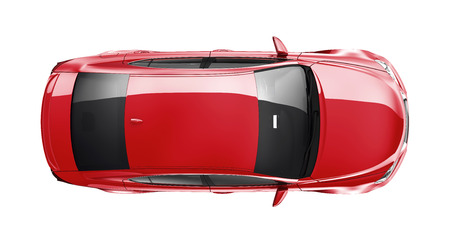 Photo for Red car on white background - Royalty Free Image
