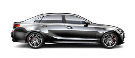 Photo pour Black luxury car - side view - image libre de droit