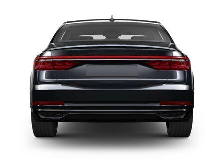 Photo for Rear view of Black sedan car - Royalty Free Image