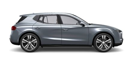 Photo for Compact silver SUV - side view - Royalty Free Image