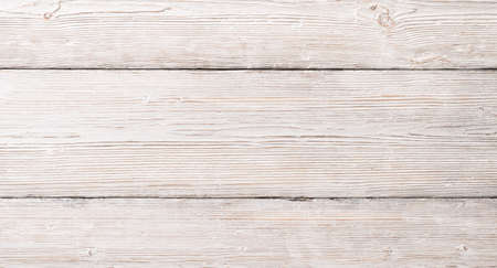 Photo for White Wood Planks Texture, Wooden Table Background - Royalty Free Image