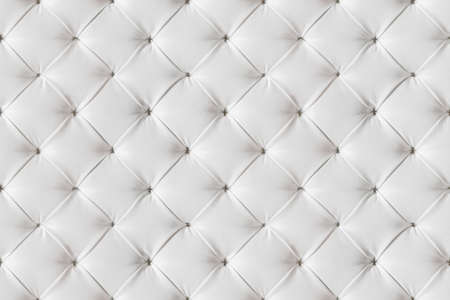 Photo pour Leather Sofa Texture Seamless Background, White Leathers Upholstery Pattern - image libre de droit